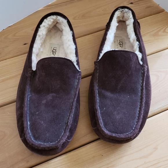 9bba91d7c38 UGG ASCOT MEN'S ESPRESSO SUEDE SZ 12 slippers